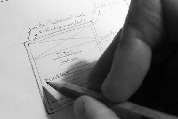 Konzept Webdesign